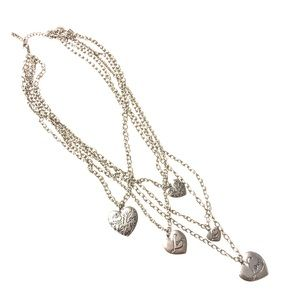 Jewelry - Silver Layered Heart Chain Necklace